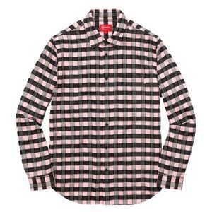 Supreme - Men's Pink Checkered Flannel Button Up